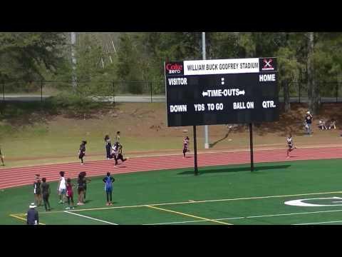 Chamblee Middle School B Girls 53.92s 4x100m Prelim 3 Dekalb County Championship 2017