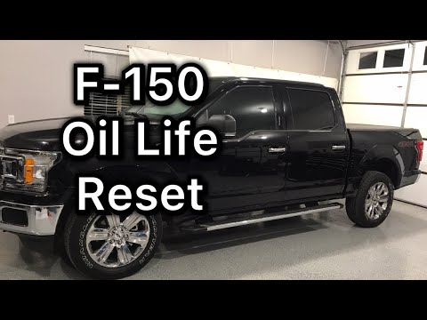 2018-2019 Ford F-150 Oil life reset procedure