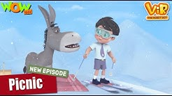 Robot, Picnic, EPISODES, full HD animated cartoon, animated clips, kids videos, latest caroon, latest cartoons, upcomming episode, upcomming animated movie, funny movies, funny cartoon, Vir The Robot Boy Picnic NEW EPISODES