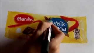 How to draw swedish chocolate bar (marabou)