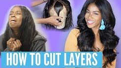 HOW TO Cut Layers for Beginners   360 Lace wig from wowafrican.com