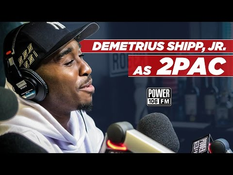 "Demetrius Shipp Jr talks Playing 2Pac in ""All Eyez On Me"" Movie"