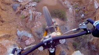 Makken Haugen Tests Huge MTB Step-Down - Red Bull Rampage 2014