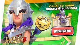 ZEREI O NOVO PASSE DE BATALHA E LIBEREI A RAINHA GLADIADORA! CLASH OF CLANS