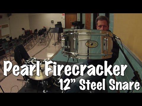 "Snare Drum Sound Check - Pearl Firecracker Snare 12""x5"""