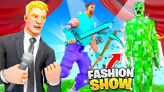 I joined a Fortnite Fashion Show with MINECRAFT Skins