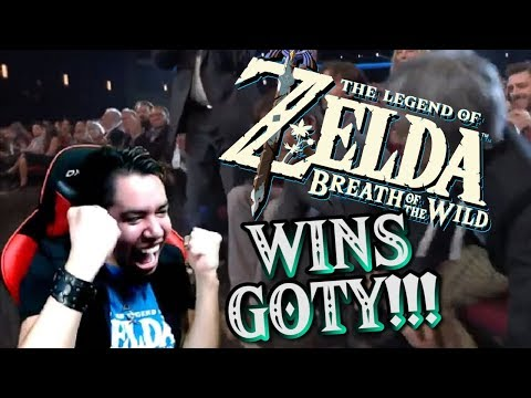 ZELDA BREATH OF THE WILD WINS GAME OF THE YEAR REACTION!