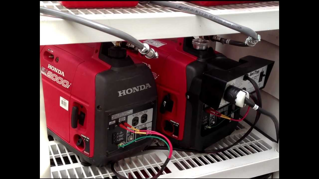 Honda EU2000i generators with APC transfer switch  YouTube