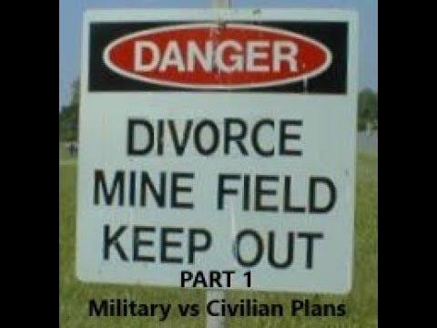 Episode 0055 - Military Divorce Minefields - Part 1 - Military vs Civilian Plans