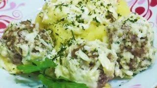 Домашние видео-рецепты - тефтели в сырно-сливочном соусе в мультиварке