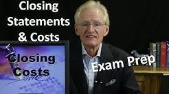 42 Closing Costs & Closing Statements: Arizona Real Estate License Exam Prep