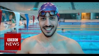 'I nearly drowned, now I dream of Olympic glory' - BBC News