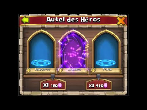 Tirage 6 Castle Clash +2cartes Heros Legendaire+1 Carte Hero Spécial+roll Talent+talent Lvl 6 Mir137