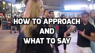 How To Approach Girls And What To Say! (Live Infield LetsGetGirls Coaching Footage)