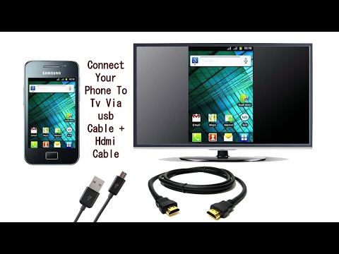 How to connect android phone to tv hdmi