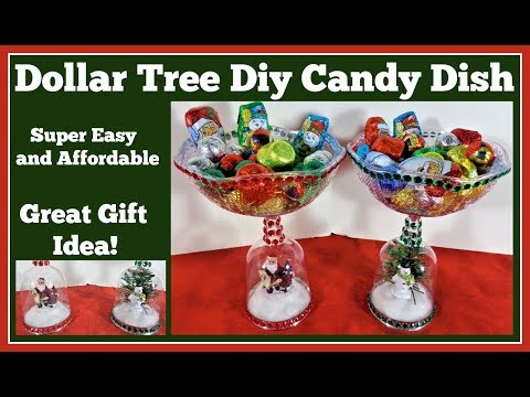 dollar tree diy christmas candy dish