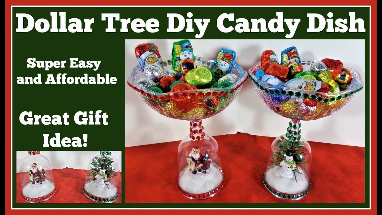 Dollar Tree Diy Christmas Candy Dish Youtube
