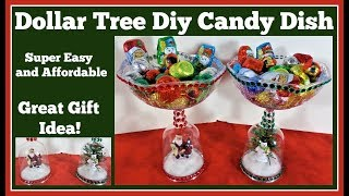 Dollar Tree Diy 🎄 Christmas Candy Dish