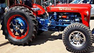 Modified Massey Ferguson TAFE 35 tractor looks like Red Jaguar