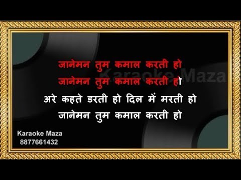 Janeman Tum Kamal Karte Ho - Karaoke - Trishul - Kishore Kumar & Lata Mangeshkar