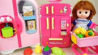 Baby doll refrigerator and fruit toys Baby Doli play