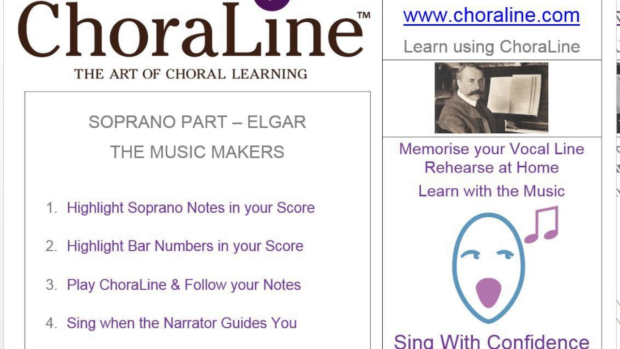 Soprano Part Elgar The Music Makers Youtube