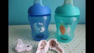 The Canadian father opened his son's sippy cup and found moldy goop