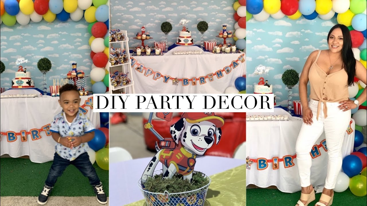 Day In The Life Of A Crafty Mom Jayden Paw Patrol 2nd Birthday Party Decor Youtube
