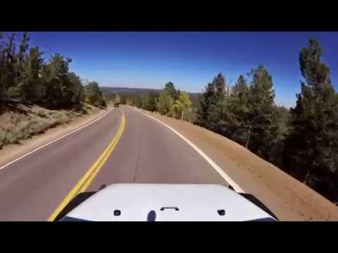 Driving down Pikes Peak