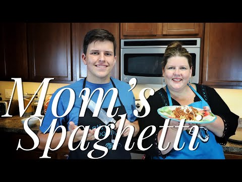 Easy Homemade Spaghetti and Meat Sauce ~ Mom's Spaghetti Recipe
