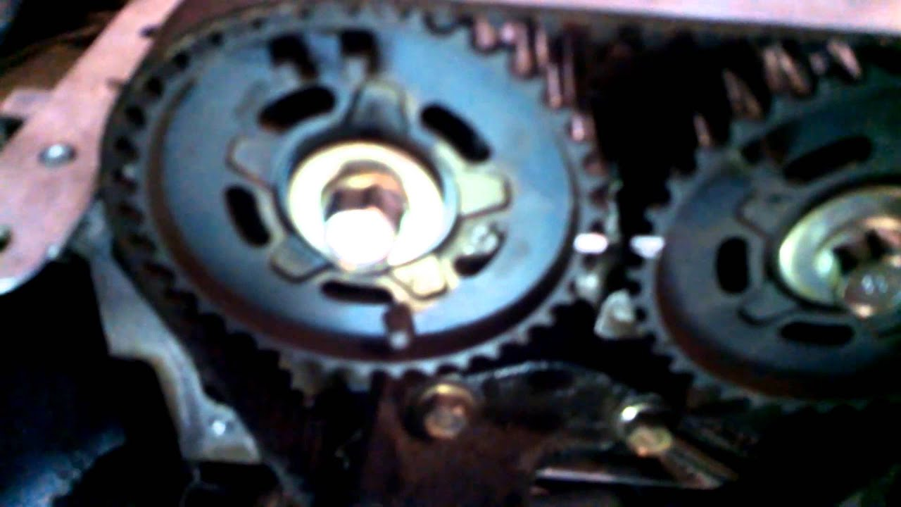 timing belt replacement 1998 2003 mazda protege dohc 1 6l water pump install remove replace [ 1280 x 720 Pixel ]