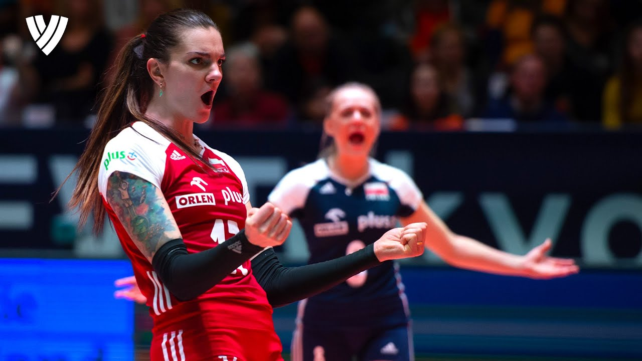 Malwina Smarzek - TOP SCORER of the VNL! | Spike Speed: 95km/h | Volleyball Highlights