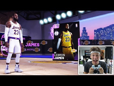 LEBRON JAMES IN THE LUCKIEST NBA 2K19 FIRST PACK OPENING!!