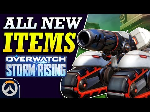 Overwatch - ALL NEW SKINS & Cosmetic Items! (Storm Rising Archives 2019)