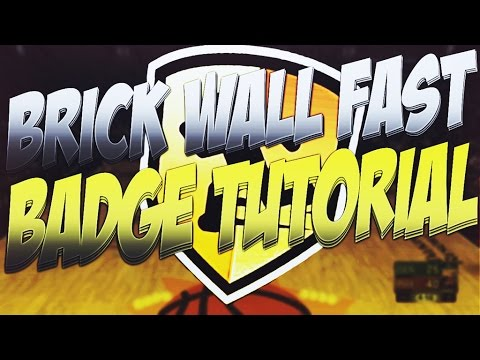 BRICK WALL FAST TUTORIAL | MOST OVERPOWERED CENTER BADGE - NBA 2K17