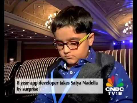 8 Years Old App Developer - Satya Nadella