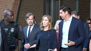 Actress Felicity Huffman leaves court, sentenced to 14 days in jail | AFP
