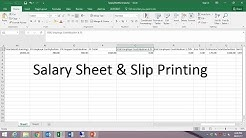 How to create Payroll/Salary Sheet in Excel and Payslip printing from Word
