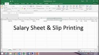 كيفية إنشاء الرواتب/راتب ورقة في Excel و راتب الطباعة من Word
