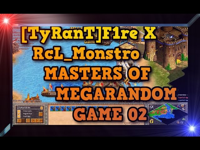 Age of Empires 2 HD TyRanTF1re X RcL Monstro Game 02 MoMR Round2 AoE2HD Gameplay PT BR