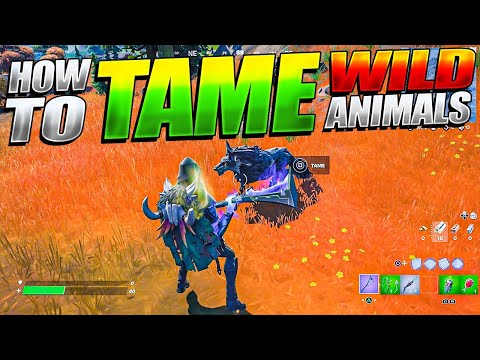 HOW TO TAME ANIMALS IN FORTNITE SEASON 6!  (Tamable WOLVES And Other Animals)