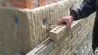Крепеж облицовочного кирпича к существующей стене(г.Полтава крепеж кирпича с арматуры со стекловолокна..забиваем в обычные дюбеля..., 2014-03-24T17:06:53.000Z)