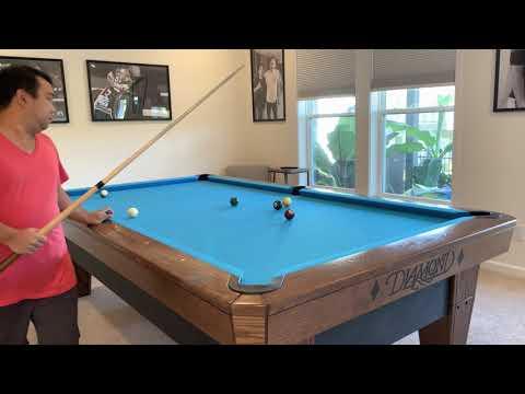 10 Ball Run Out 3 | Diamond Pool Table