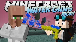 Minecraft | WATER & LAVA GUNS MOD! (Turn Liquids into Deadly Weapons!) | Mod Showcase