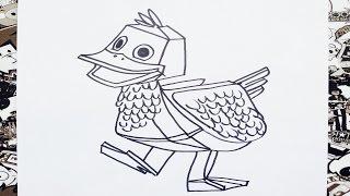 Como dibujar a zack y quack | how to draw zack y quack | como desenhar zack y quack