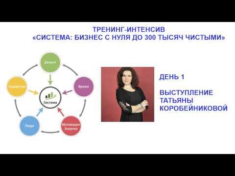 Тренинг - интенсив Система.  День 1. Татьяна Коробейникова.