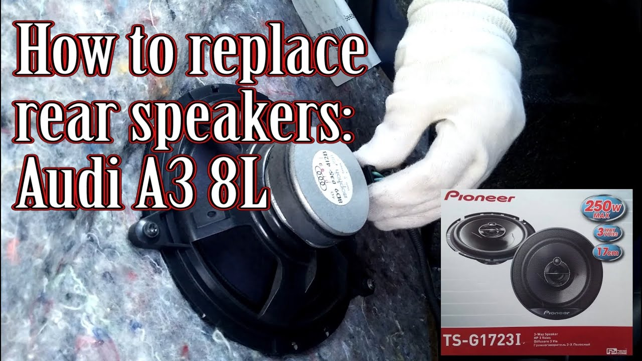 how to replace audi a3 8l rear speakers youtube. Black Bedroom Furniture Sets. Home Design Ideas