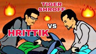 War Bike Action sequel | HRITHIK VS TIGER SHROFF | WAR | BIKE ACTION SCENE | 2D ANIMATION
