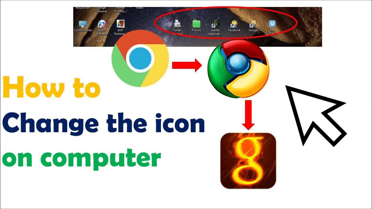 How to change the icon on the computer
