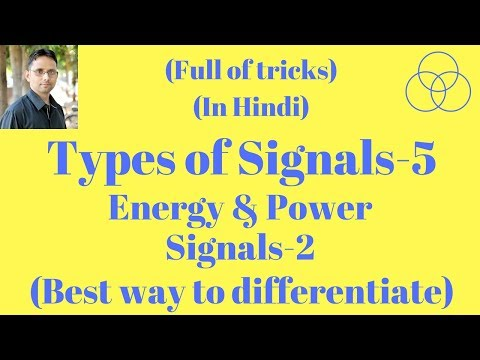 Energy and Power Signal Part-2 (Signals and Systems, Lecture-5) by SAHAV SINGH YADAV